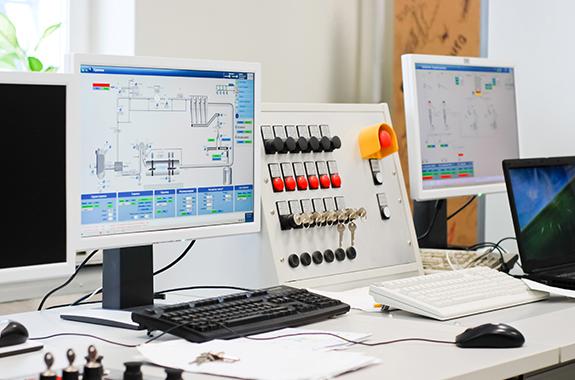 工場、事務所、技術・研究各棟間配線