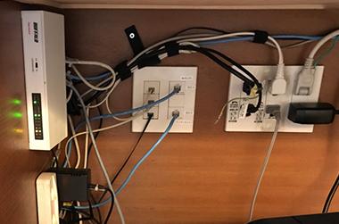事例:LAN配線整理